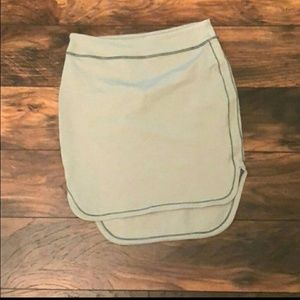 Lululemon skirt, stretchy pencil, green, EUC